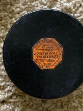 vintage NHL game used puck