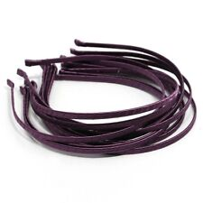 Wholesale LOTS HEADBANDS 12 METAL HAIRBANDS 5mm PURPLE