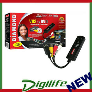Diamond VC500 USB 2.0 One Touch VHS to DVD Video Capture Device to Digital Fille