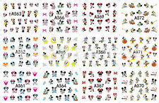 Lots 480pc Cartoon Stickers Snowwhite Water Transfer Nail Cute Art Decals