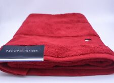 Tommy Hilfiger Bath Towel In Red Cotton Brand New Genuine Item With Tags