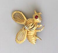 Unique vintage  Bee brooch pin