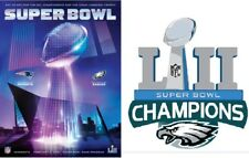 SUPER BOWL 52 EAGLES CHAMPIONSHIP PROGRAM STADIUM HOLOGRAPHIC CHAMPIONS LABEL