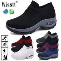 Women's Sport Air Cushion Sneakers Breathable Walking Jogging Running Sock Shoes