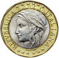 Italien - Münze 1000 Lira 1997 - BIMETAL - mit Fehler - falsche Deutschlandkarte