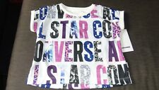 Converse S/Sleeved 'Party Print' Graphic Top 4yrs 104cm White Mix BNWT