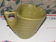 Vintage Elan Pottery Signed Bee Hive Ramen Noodle Bowl Green
