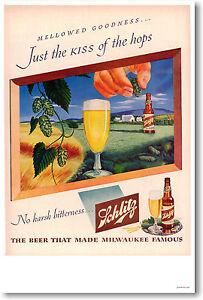 Schlitz Beer - Vintage Ad Print POSTER
