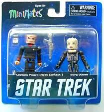Star Trek Minimates Pack 2 figurines : Captain Picard & Borg Queen