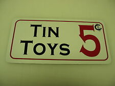 TIN TOYS Vintage Style Metal Sign 4 Collector Dime & General Store Man Cave Room