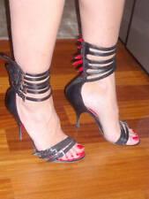 Cesare Paciotti brown strappy ankle back zipper bootie sandals 9 ret $795