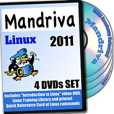 Mandriva 2011 Linux 4-disk Dvd Install and Reference Set