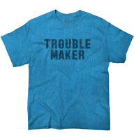 Troublemaker Rebel Funny Sarcastic Graphic Short Sleeve T-Shirt Tees Tshirts