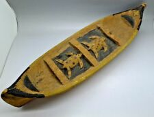 Rare Native American Pac West Adriondacks Turtle Canoe Boat Must See Unusual