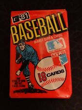 1981 Donruss Baseball Wax Pack (x1) Fresh from Box!