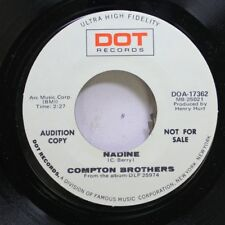 Country Promo Nm! 45 Compton Brothers - Nadine / Lying On A Prayer, A Hope And A