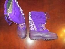 Sorel Snow winter Boots Girl's boy's Kid's 4 Purple illuminite reflective shoes