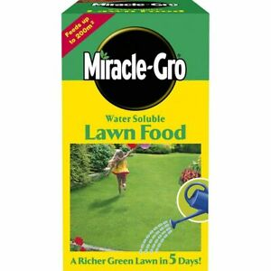 Lawn Food Fertiliser Feed Water Soluble Miracle Gro 1kg Grow Richer Grass Garden