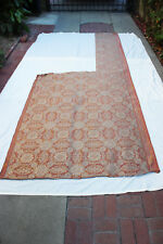 Vintage FORTUNY Cotton Fabric IMPERO 2 Yards (plus) Copper and Silvery Gold