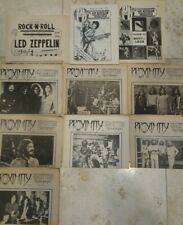 Led Zeppelin Proximity Pb First Issues 10 Rare Zines Newspapers