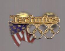 New listing 1996 Technics Atlanta Olympic Pin Us Flag Usoc Rings Usa