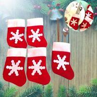 12Pcs Mini Home Decor Christmas Stockings Tableware Set