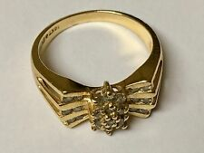Vintage Woman's Ring 14kt Gold with Diamonds