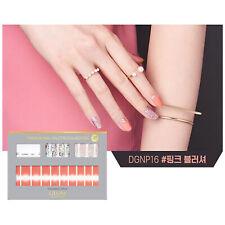 Gloss Gel Nail Strip Manicure 30 Nails Dgnp16 Pink Blusher Nail Art K-Beauty