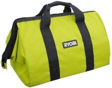 "NEW Ryobi 18"" x 12"" x 14"" Contractors Heavy Duty Green Tool Bag Wide Mouth"