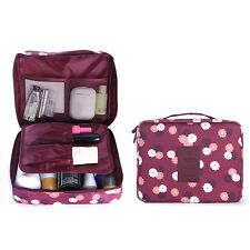 HOMPO Travel Cosmetic Makeup Toiletry Bag Wash Organizer Storage Pouch Handbag