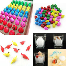 60x Colorful Very Magic Growing Hatching Water Dinosaur Eggs Kid Inflatable Toy