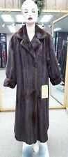 "Natural Letout Lunaraine Mink Fur 54"" Swing Coat - size 18-20"