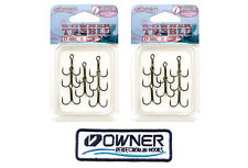 2 Packs size 6 Owner Treble Hook ST 36BC #6 Super Needle Point + 1 Owner's patch