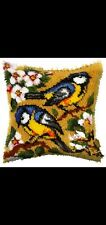 New listing Latch Hook Pillow Kit - 15.7 X 15.7 Inches - Pretty Birds