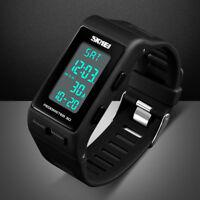 SKMEI Men Women Sports Digital Wrist Watch LED Waterproof 3D Pedometer Calories