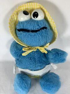 Hasbro Softies Plush Sesame Street Baby Cookie Monster Vintage Plush