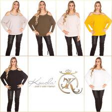 Fledermaus-Pullover im Cold-Shoulder-Style
