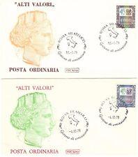 REPUBBLICA: 1978 ALTI VALORI, 5 BUSTE FDC CON I 5 VALORI