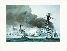 """1976 Marine Color Plate """"Fleet Without a Friend"""" Chris Mayger WAR SHIP WARSHIP"""