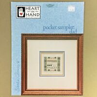 Pocket Sampler Dad cross stitch chart & sterling silver charm Heart in Hand new