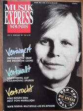 MUSIKEXPRESS 2 - 1989 4* Grönemeyer Udo Lindenberg Tanita Tikaram Willy de Ville