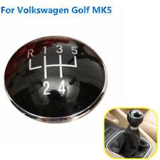 5 Speed Gear Shift Knob Emblem Badge Cap For Volkswagen Golf V MK5 03-09