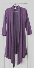 Purple tweed long angora long cardigan by Pretty Young Thing NWOT