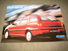 Fiat Palio Weekend Prospekt Blatt single sheet Brochure prospetto von 8/1997