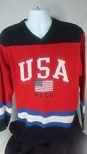 Polo By Ralph Lauren L/XL USA American Flag Hockey Jersey