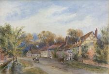 Original Antique Victorian Watercolour Painting, Signed