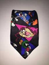 Looney Tunes Mania Tie Gangs All Here Polyester Xmas Gift For Dad Warner Bros