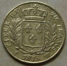 France - Louis XVIII buste habillé  20 francs Or 1815 W