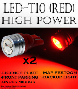4 piece T10 168 194 W5W Red High Power LED Replaces Parking Lights Lamps R677
