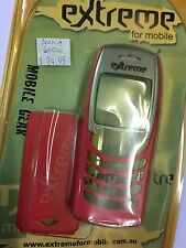 Nokia 6100 Front & Rear Housings/Covers Red incl. Screen Display Glass Brand New